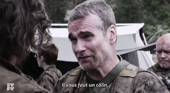 Henry Rollins Z Nation hug